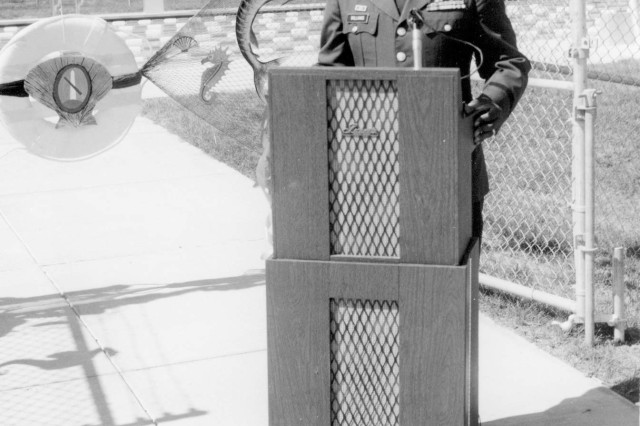 Then Col. Harvey D. Williams attends a swimming pool ribbon cutting ceremony during his tenure as post commander at Fort Myer, Va. He was post commander from 1975 to 1977. Williams was the first African-American to hold the commander's position at Fort Myer and what became Joint Base Myer-Henderson Hall.