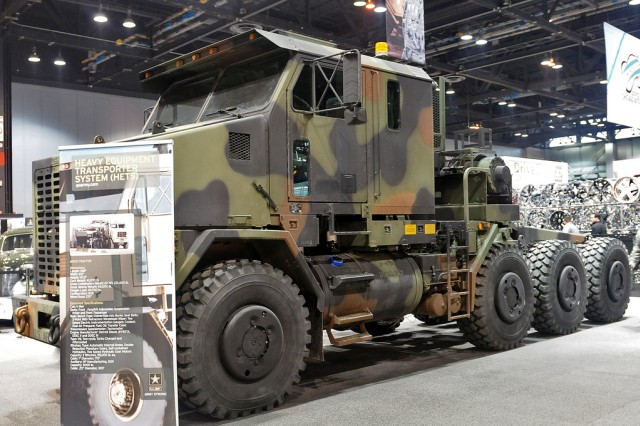 The U.S. Army highlights the The Heavy Equipment Transport System (HETS)  during the 2012 Chicago Auto Show