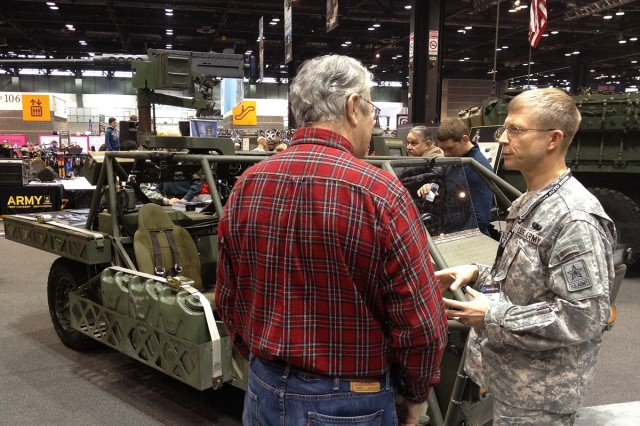 During the Chicago Auto Show, the Army highlighted one of the its new lightweight, diesel-electric concept hybrid vehicles, the Clandestine Extended Range Vehicle, or CERV, designed by Quantum Fuel Systems Technologies Worldwide and the U.S. Army's Tank Automotive Research, Development, and Engineering Center.  The intended use for the CERV is for targeting, reconnaissance, and rescue sorties, with a traveling speed up to 80 mph, and with a capability to travel in a silent mode under 8 mph.