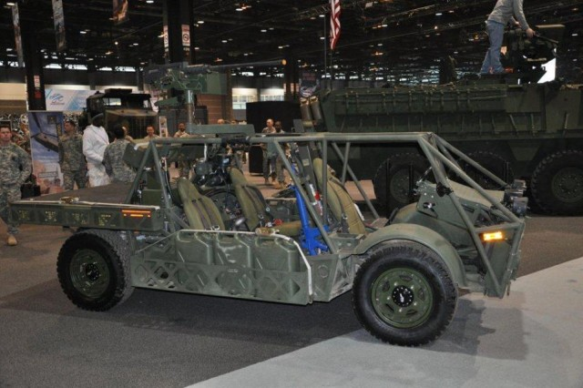 "The prototype Clandestine Extended Range Vehicle on display at the Chicago Auto Show is a light-weight, diesel-electric hybrid with a ""silent run"" capability. The new ""green"" vehicle was developed by the Army's Tank Automotive Research, Development and Engineering Center, located in Warren, Mich., in cooperation with California-based Quantum Technologies."