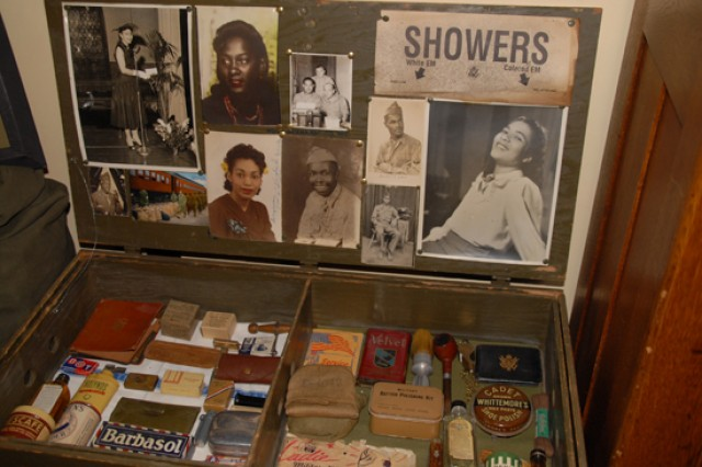 George Hardy's African-American military memorabilia collection began with items from his father's World War II service, then progressed to scouring the Internet and flea markets for items. He purchased and traded for photos, unit insignias, uniform pieces, unit yearbooks and day-to-day items that would have been found inside a Soldier's footlocker.
