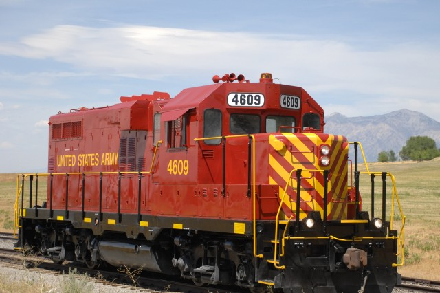 Locomotive 4609, a 120-ton train engine completed in DGRC's overhaul program in 2011 sits on the rails as it awaits departure for its next home base.