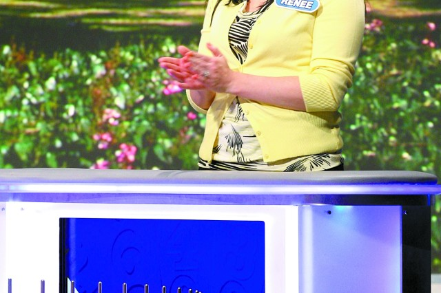 LOS ANGELES (February 6, 2012) Renee Parker makes a appearance on Wheel of Fortune Feb. 6 during Military Spouses Week.