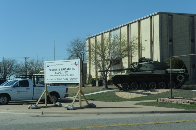 In addition to the major construction projects in the works, Fort Hood also has many offices, buildings and facilities undergoing remodel. (U.S. Army photo by Heather Graham-Ashley, III Corps and Fort Hood Public Affairs)
