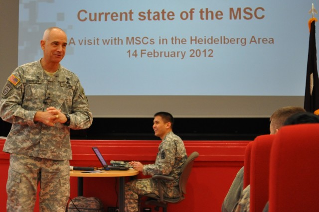Medical Service Corps chief talks to health center staff