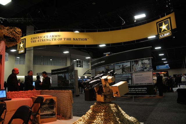 "The Army is the nation's ""force of decisive action,"" the Army is ""meeting the needs of the nation"" and ""people are our Army."" All three messages figure prominently in a new Army display shown for the first time at this year's Association of the U.S. Army symposium in Fort Lauderdale, Fla."