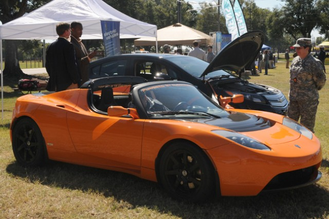 Fort Rucker Directorate of Public Works brought many alternative energy options on post for its first annual Energy Expo last year, the most popular of which was the all-electric Tesla Roadster.