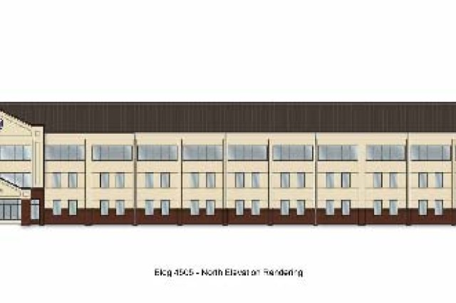 Artist rendering of the renovated building.