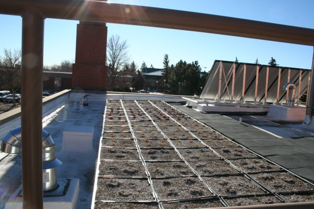 """FORT CARSON, Colo. -- The data collected from """"green roof"""" will help determine the best use of plants and grasses in Colorado's semi-arid climate."""
