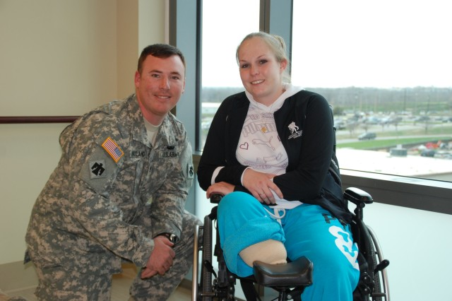 Staff Sgt. Brian Wayland and Spc. Ashley Jones recover at San Antonio Military Medical Center after they were both injured in Afghanistan.