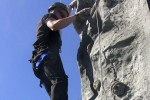 Future service member climbs rock wall