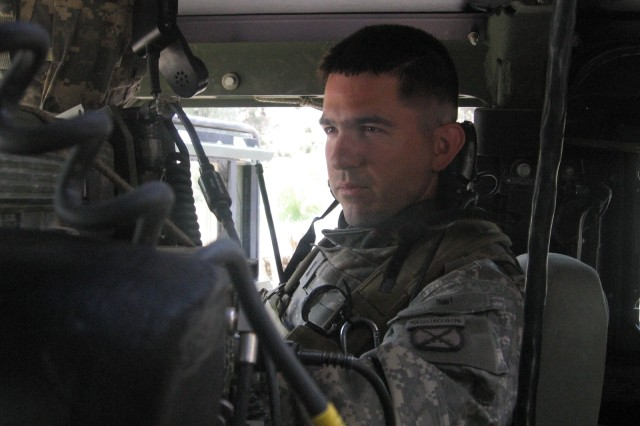 Then-1st Lt. Sean Parnell, patrols Afghanistan with his platoon. Parnell was a platoon leader from 2006-2007 with 2nd Battalion, 87th Infantry Regiment, 3rd Brigade Combat Team.
