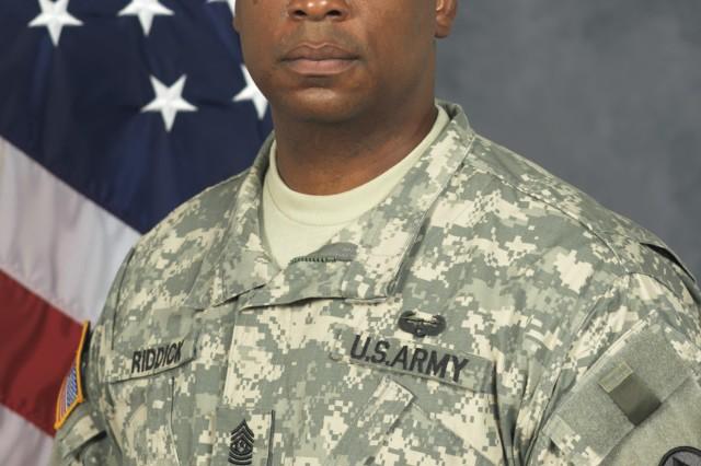 Command Sgt. Maj. James Riddick