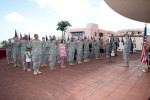 Soldiers come together for March Madness mass re-enlistment