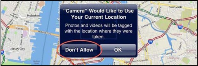 Be careful before geotagging photos