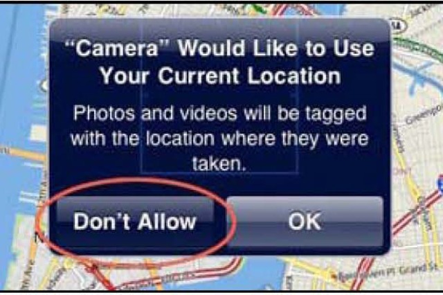 Photos from smartphones are geotagged even when the user is unaware. Smartphone users can adjust their privacy settings to limit who can view their geotagged locations.