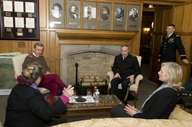 Prior to the Kermit Roosevelt Lecture Series, West Point Superintendent Lt. Gen. David H. Huntoon and Mrs. Huntoon hosted General Sir Richard Shirreff, Deputy Supreme Allied Commander Europe, and Lady Sarah-Jane Shirreff March 5.