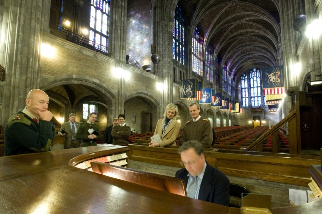 During a tour of West Point, General Sir Richard Shirreff and Lady Sarah-Jane Shirreff are treated to an organ demonstration at the Cadet Chapel by Craig Williams. West Point is home to the largest chapel wood pipe organ in the world.