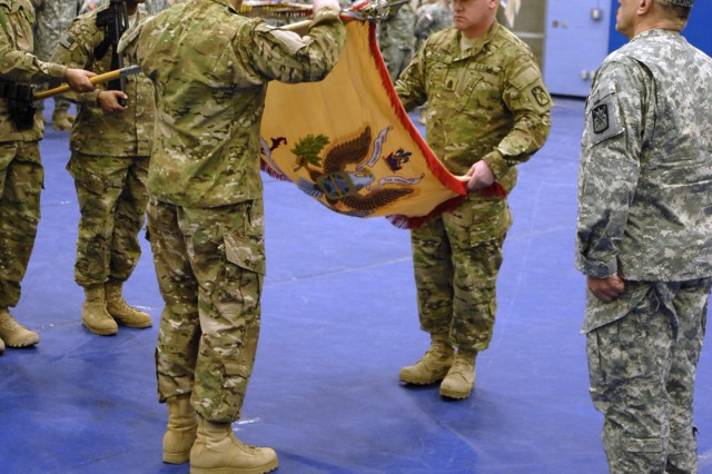 548th CSSB Cases Colors For Afghanistan Deployment