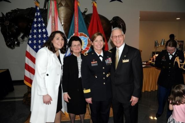BG Richardson with daughter Lauren and mother and father, Dr. and Mrs. Jan Strickland, of Denver, CO, in receiving line.