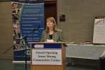 Laura Stultz talks about the Army Strong Community Center