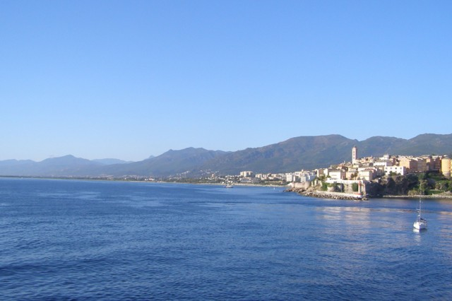 The rugged Corsican mountains provide breathtaking views while creating a backdrop for the port town of Bastia, located on the northeastern tip of the island.