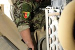 Afghan National Army Soldiers, 25th CAB turn Wrenches Together