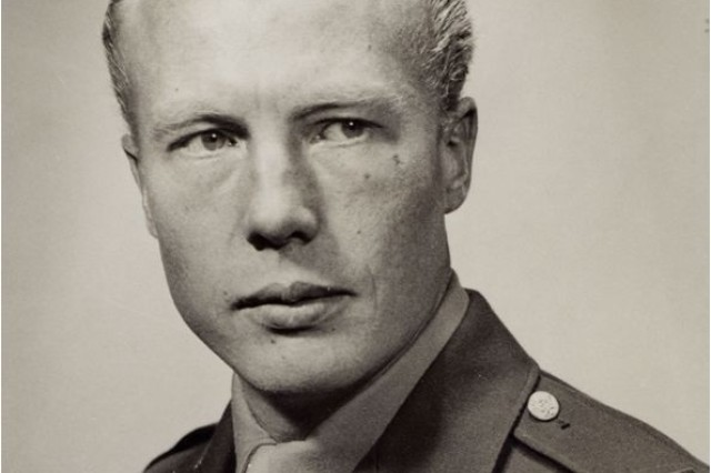 "U.S. Army 1st Lt. Christian Lambertsen, a medical corps officer, taken in 1943 prior to his service during World War II. Lambertsen, a Ph. D. who graduated from the University of Pennsylvania's School of Medicine and invented the precursor to modern SCUBA equipment, served in the Office of Strategic Services as an operational swimmer during the war, primarily in the pacific region. Christiansen completed his military service in 1946 as a major, and went on to a distinguished 70-year career in academia. Christiansen is considered to be the ""father of military combat diving."" He passed away on Feb. 11, 2011."