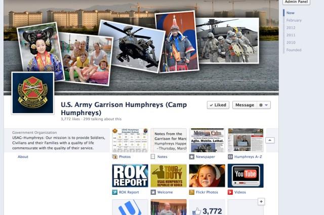The USAG-Humphreys Facebook fan page (screen shot).