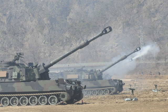 The Utah National Guard's 145th Artillery Battalion and the Republic of Korea Army's 628th Artillery Battalion conducted an artillery live-fire exercise in Korea.