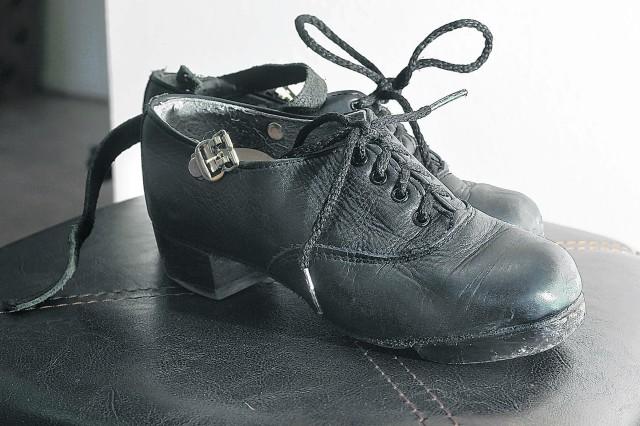 Savana Saez's hard soled shoes.