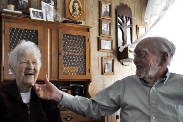 Now married for 67 years, Tom and Theresa Lyons, Watervliet, N.Y., still find joy and a lot of love sharing their stories.  Both worked at the U.S. Army Watervliet Arsenal during World War II.  Theresa left after the war, but Tom stayed on and retired from the Arsenal in 1973.