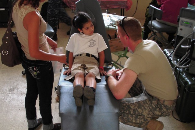 Army Cadets assisted the U.S.S. Comfort with humanitarian support in Ecuador during last year's Cultural Understanding and Language Proficiency mission.