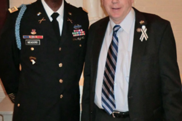 Maj. Tim Meadors stands next to Congressman Larry Kissell from North Carolina in the U.S. Capitol. Meadors served as an Army Congressional Fellow on Kissell's staff from January to December 2010.