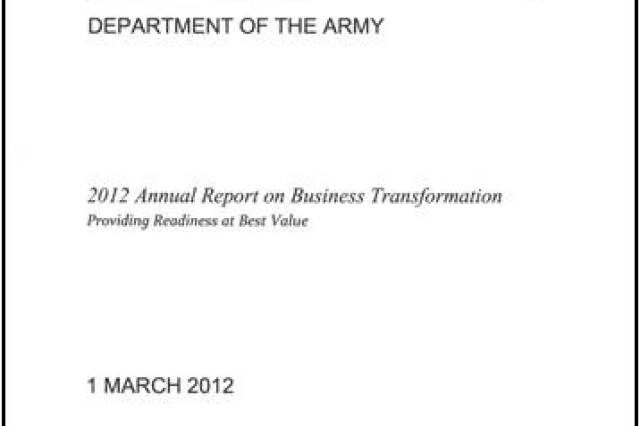 2012 Report to Congress on Business Transformation