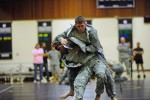 Soldiers test hand-to-hand combat skills