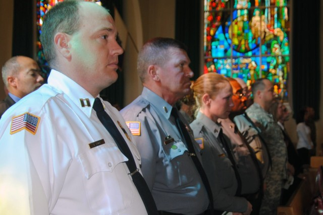 Special-operations personnel assigned to Fort Bragg, N.C. gathered in the John F. Kennedy Chapel in order to honor retired Command Sgt. Maj. George E. Miller, Jr., a 30-year Special Forces veteran who passed away unexpectedly March 11.