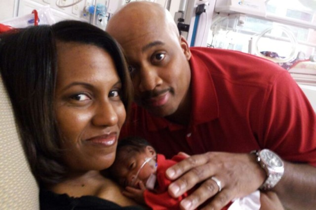 Shellie and Charles Scott along with their daughter, Jordan Grace.