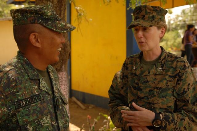 Philippine community, U.S. Marines work shoulder-to-shoulder to break ground at local school