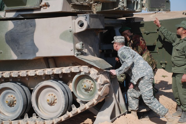 Fort Sill personnel observe training at Moroccan Field Artillery Center