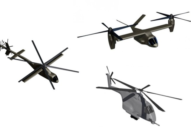 Three different concepts for the next-generation vertical-lift aircraft are among those being developed under the Joint Multi-Role program.