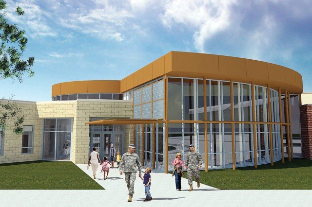 An artist's rendering of LTG Richard J. Seitz Elementary School shows the facility in its completion.