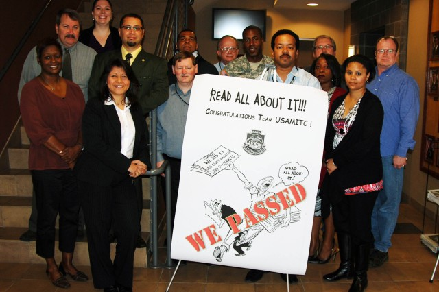 """Fort Sam Houston, TX.  Congratulations go out to the U.S. Army Medical Information Technology Center's (USAMITC's) Information Assurance (IA) Team for passing the DAIG Inspection!  The DAIG is the Department of the Army's Inspector General Program that focused, in this case, on IA.  This inspection, which covered 15 areas, audited the cyber security of the enterprise system for the U.S. Army Medical Command, or MEDCOM.  This inspection has had a 26% passing rate through fiscal year 2011, and it involved personnel and components from every division within USAMITC.  Their contributions allowed the organization to be recognized by the DAIG Inspection Team, who adopted four processes as Best Business Practices for the Department of the Army.  """"The IA Division served as intermediaries between the inspectors and USAMITC,"""" said Willie Arrington, USAMITC's IA Division Chief.  """"And we're all committed to doing the best we can do.  Every member of USAMITC exhibited their personal endeavors, commitment and diligence resulting in the successful outcome of this mission,"""" he said.  U.S. Army photo by Kenneth Blair Hogue"""