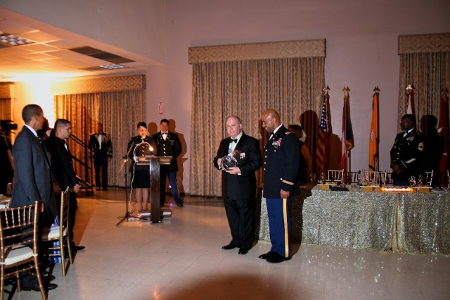 Under Secretary of the Army Joseph Westphal (left) delivered the keynote address to more than 175 cadets during the University of Puerto Rico-Rio Piedras' ROTC ball; emphasizing the importance of diversity and leadership within the U.S. Army. Westphal recognized Lt. Col. Gustavo Perez (right), professor of military science at the University of Puerto Rico-Rio Piedras, and his cadre, for their commitment to leader development and the future of the Army.
