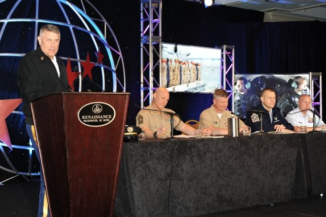 "The Army's senior enlisted advisor spoke March 28, 2012, during the fourth annual ""Warrior Resilience Conference"" in Washington, D.C. He said the Army is doing a good job at training Soldiers to be resilient -- though there's always room to improve."