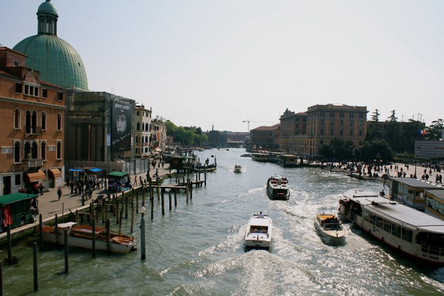 """The Grand Canal is the """"main highway"""" of Venice, often bustling with maritime traffic."""