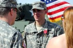 Spc. Alexander Herro receives Bronze Star with V device