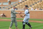PMILDEP LTG Phillips Throws the First Pitch UT v UA 31 March
