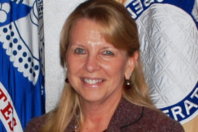 USASAC case manager, Karen Grant, meets requirements for foreign military sales to CENTCOM.