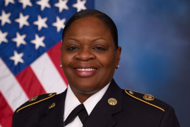 Tracy Marshall, U.S. Army Communications-Electronics Command Equal Employment Opportunity Advisor. Marshall is an Army Reserve master sergeant.